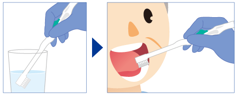 清掃方法吸引歯ブラシの場合